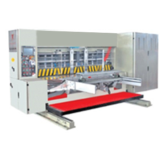 Lead edge feeding four color flexo printer