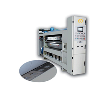 Lead edge feeding flexo printer slotter die cutter with stacker
