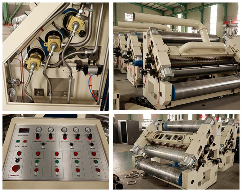 Single Face Corrugated Paper Making Machine