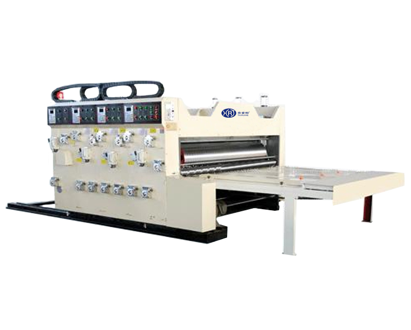 Automatic feeding flexo printer with slotter