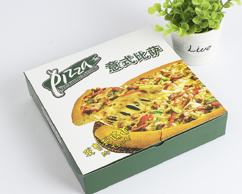 Hot selling custom recycled print octagon white paper pizza box