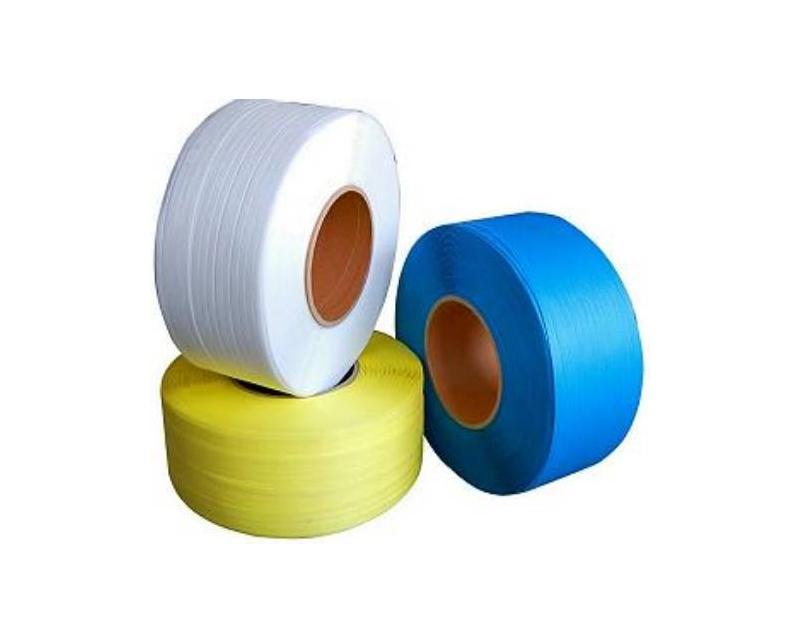 Strap/wrapping belt for carton bundling