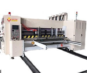 Lead edge feeding single color flexo printer