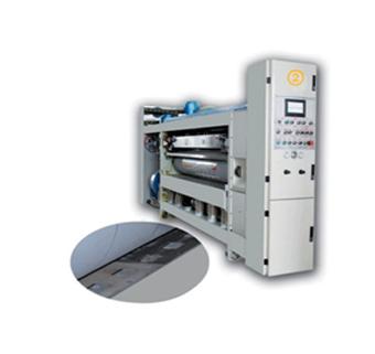 Lead edge feeding flexo printer with slotter