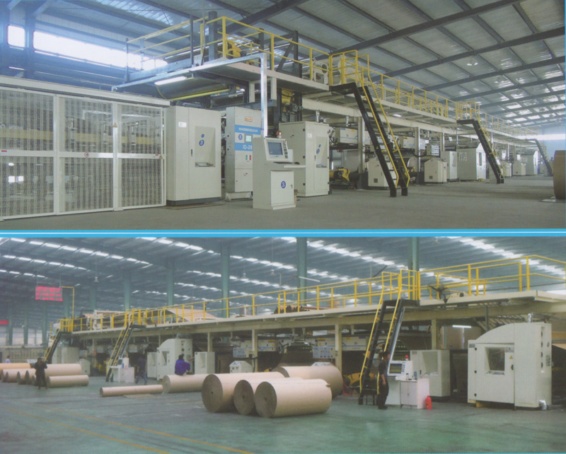 3/5/7 ply corrugated paperboard production line