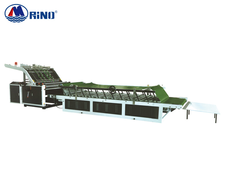 Semi-automatic high speed flute laminating machine