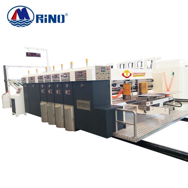 Corrugated cardboard/Lead edge feeding automatic flexo printing slotting machine