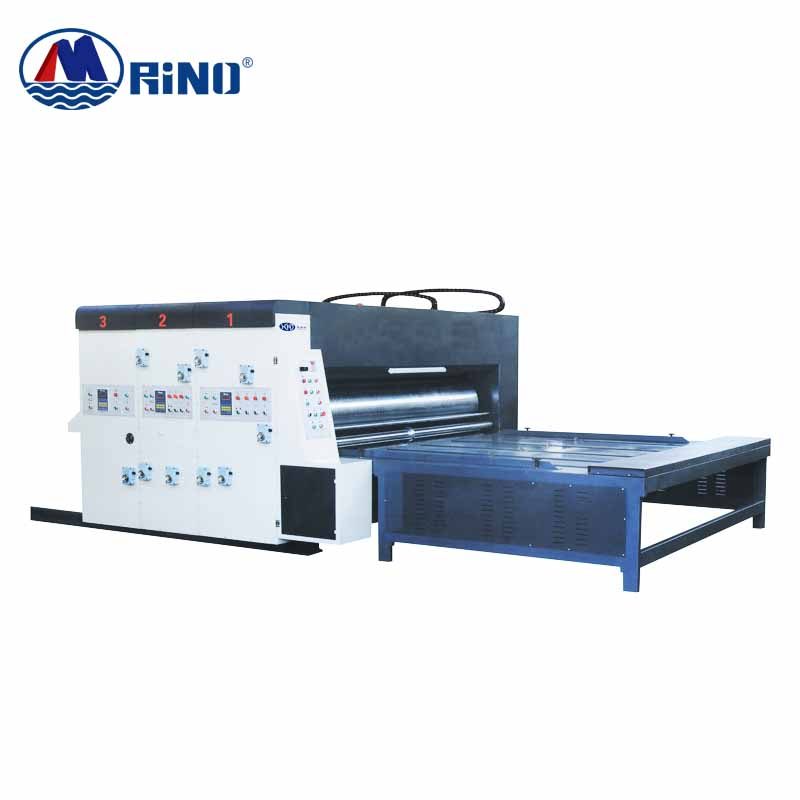 HRT Corrugated cardboard High Speed Automatic Chain Drive feeding four colors flexo printer printing machine