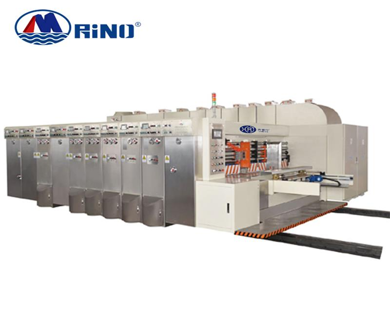 Rotary die-cutting machine with flexo printer