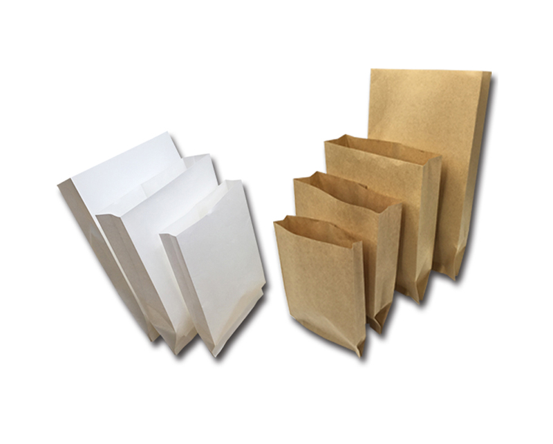 Wholesale Custom Design Disposable Food Packaging brown kraft bread packaging paper bags