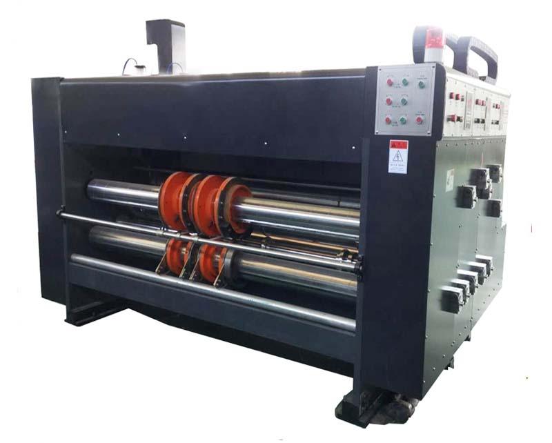 Double color flexo printing partition slotter machine