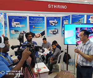 Rino Group  was interviewed by local TV stations in Chennai exhibition
