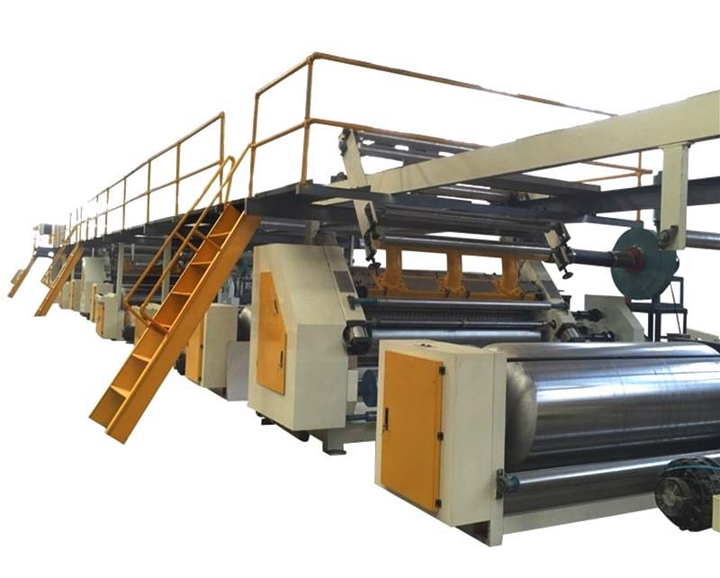 Fully automatic 3 5 7 ply corrugated cardboard production line , carton packaging machine
