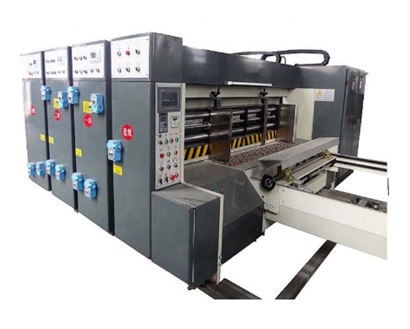 Double color flexo printing partition slotter machine
