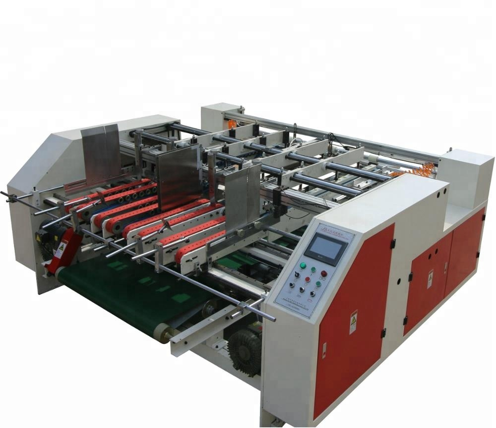 Pressing Type Double Pieces Semi Auto Folder Gluer Machine