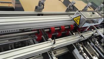 Pressing Type Double Pieces Semi Auto Folder Gluer Machine