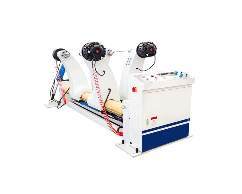 Hydraulic shaftless mill roll stand machine